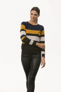 BL0603 – STRIPED PULLOVER WITH BOBBLE DETAIL