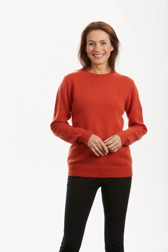 NH1812 CREW NECK PULLOVER WITH RIB TRIMS