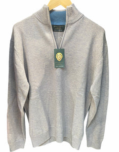 1/4 zip collar jumper Cashmere/Merino wool D2725