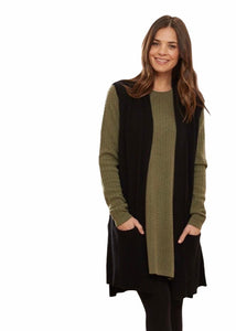 Ribbed ETE vest Cashmere merino with pockets BL9613