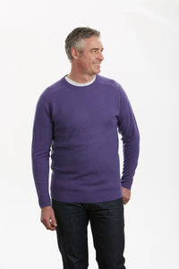 BL0509 – MOSS STITCH SADDLE SHOULDER CREW PULLOVER