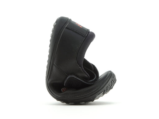 Vivobarefoot Pally Leather Black Mr Wolf Kids