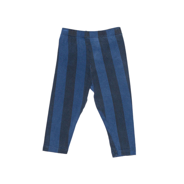 Zuttion Vertical Stripe Baby Leggings, Denim/Navy