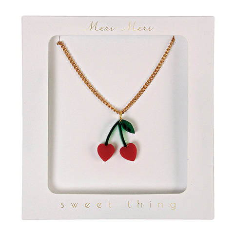 Necklace Cherry Charm
