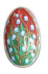 Russian Egg Tin Red