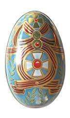 Russian Egg Tin Blue
