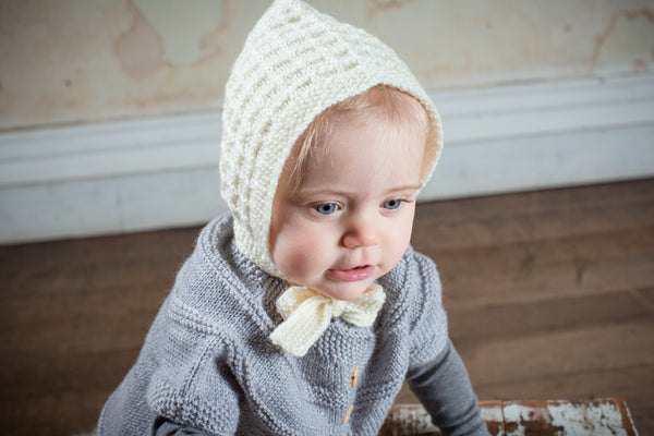 Lace Bonnet, Cream