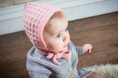 Lace Bonnet, Pink