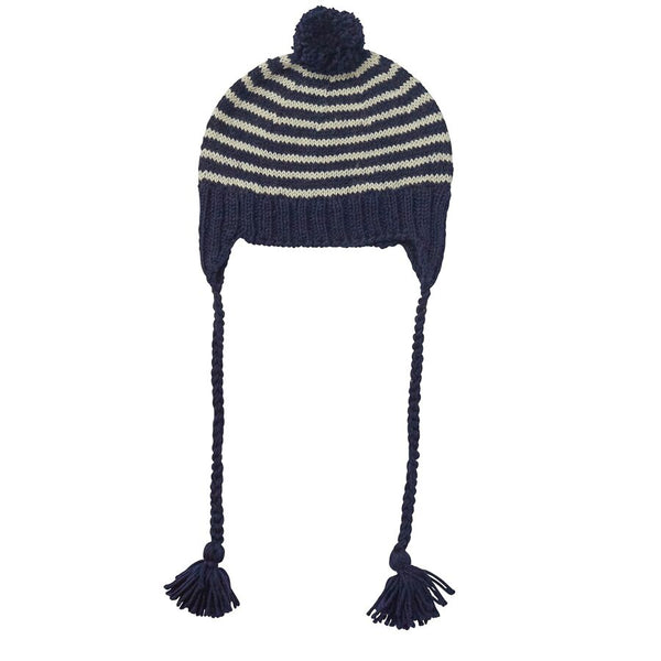 Acorn Adventure Beanie Navy Stripe