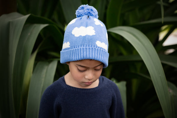 Clouds Beanie Blue