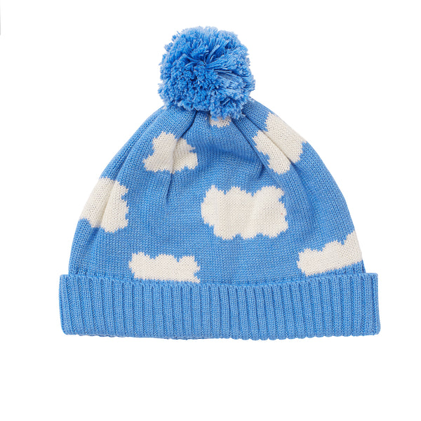 Acorn Clouds Beanie Blue