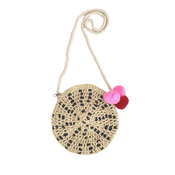 Acorn Straw Bag Pearl Spotty