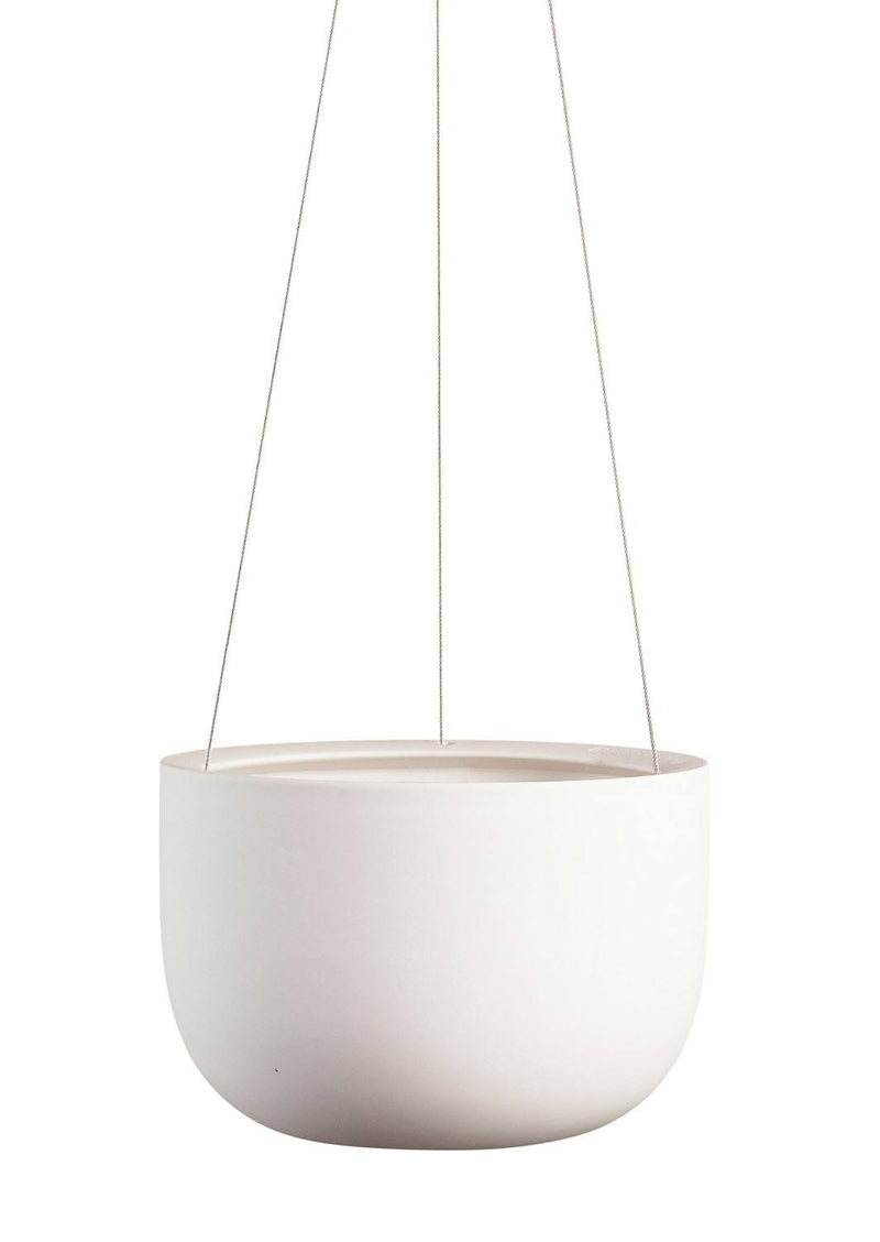 Angus & Celeste Hanging Pot Raw Earth Chalk White
