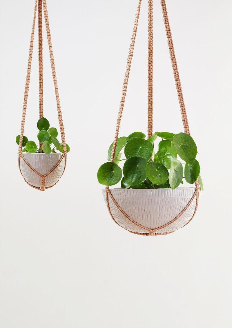 Macrame Hanging Planter Large Grey