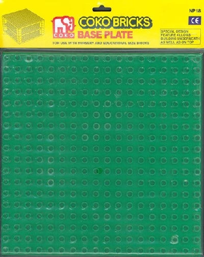 COKO Base Plate Large for Nursery COKO Bricks Green