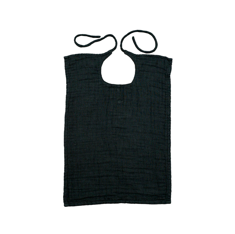 Numero 74 Square Baby Bib Dark Grey