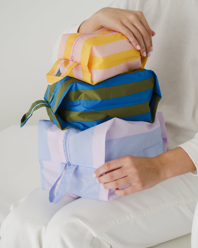 Baggu 3D Travel/Organisational Zip Set Leisure Stripes