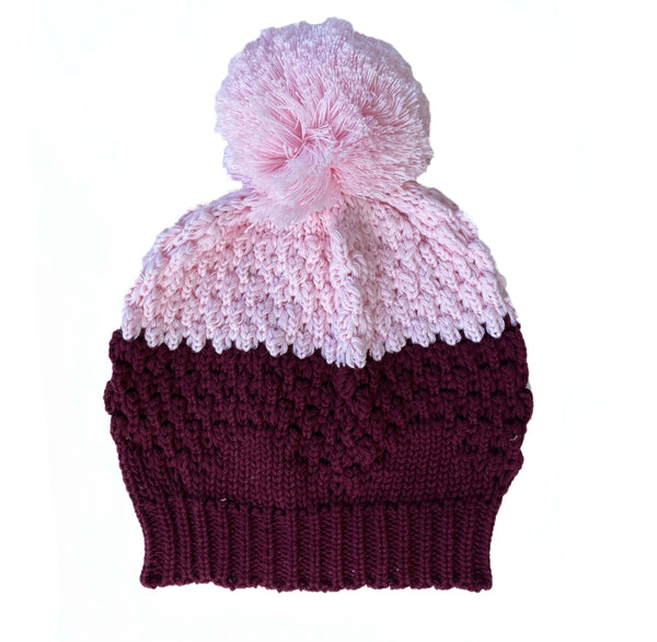 Bella & Lace Beanie Mulberry