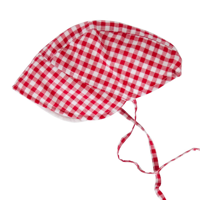Peggy Daisy Bonnet Red Gingham