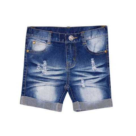 Denim Roll Shorts