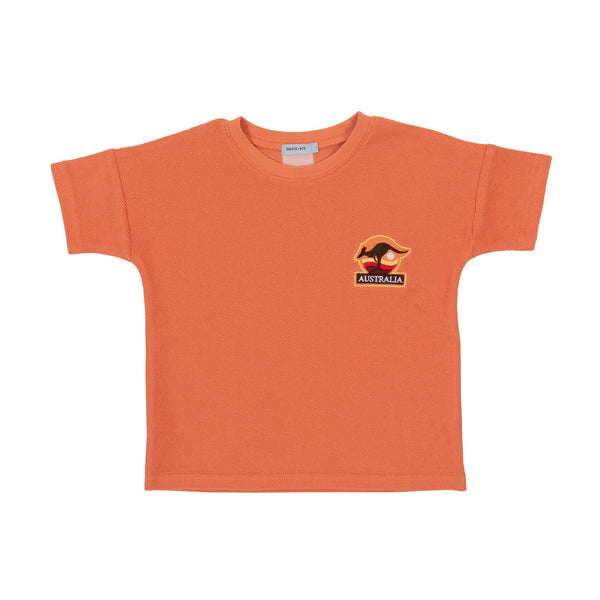 Terry Towelling Tee, Flamingo