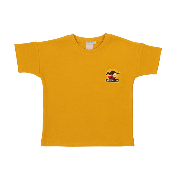 Goldie + Ace Terry Towelling Tee Marigold
