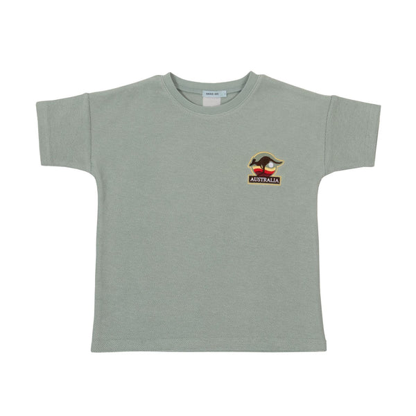 Goldie + Ace Terry Towelling Tee Sea