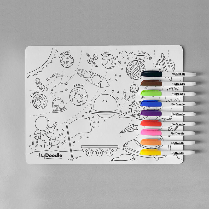 Reusable Colouring Mat, Outer Space