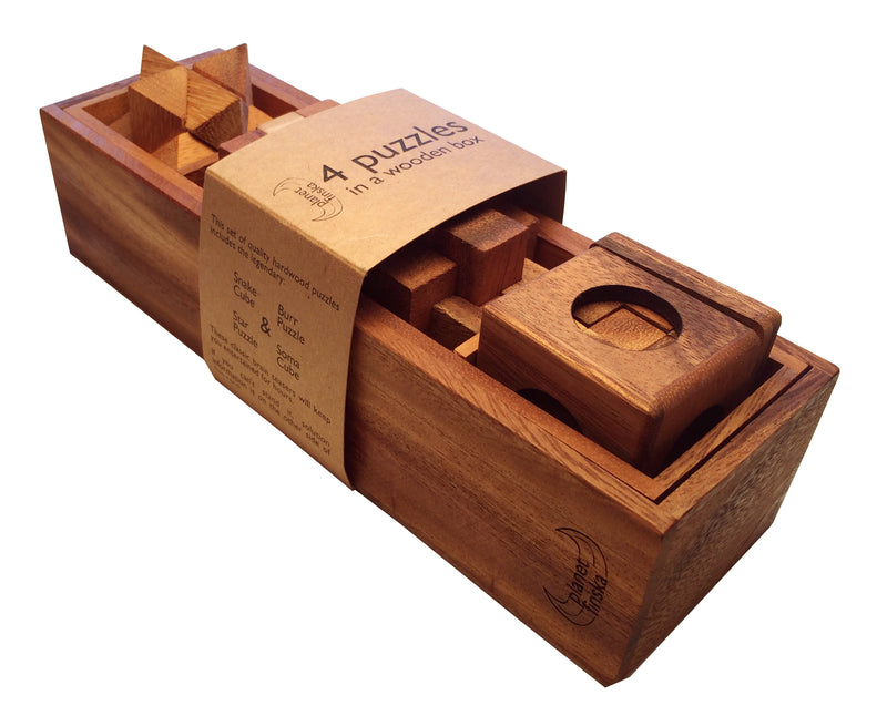 Planet Finska 4 Puzzles In A Wooden Box