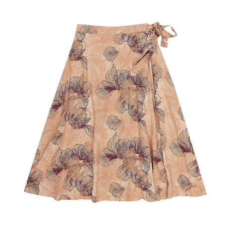 Jean Wrap Skirt Floral