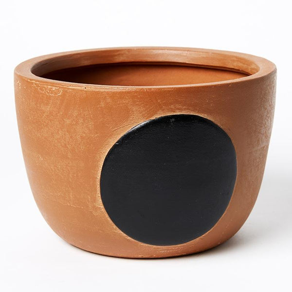 Jones & Co Full Moon Pot Brown/Black Small