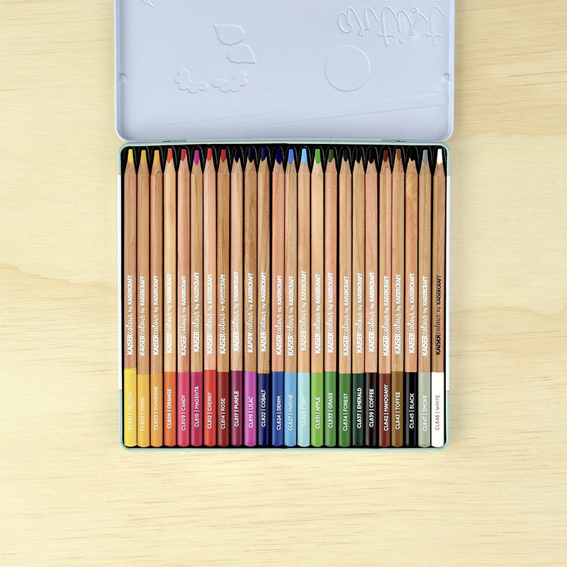 Artist Coloured Pencils 24pc Tin