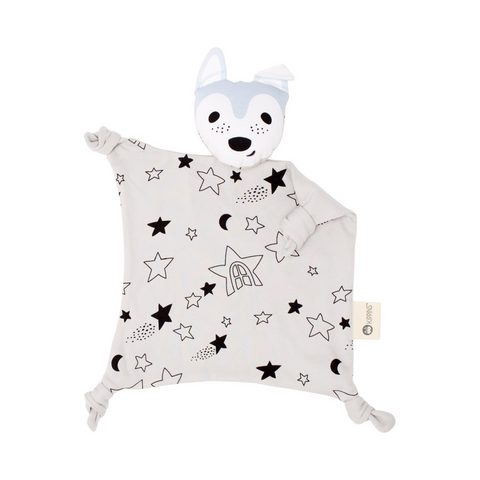 Organic Cotton Cuddle Blankie, Wolfie