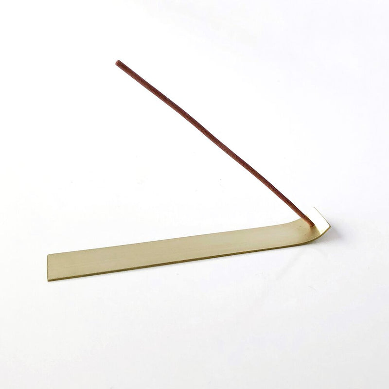Kirsty Lief Brass Incense Holder Flat Large