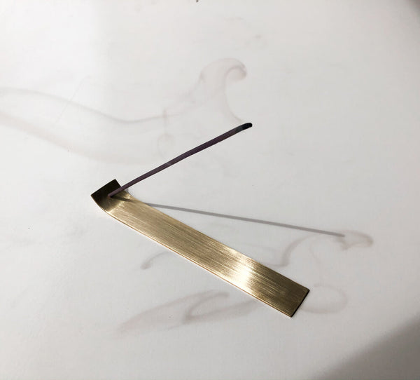 Kirsty Lief Brass Incense Holder Flat Small