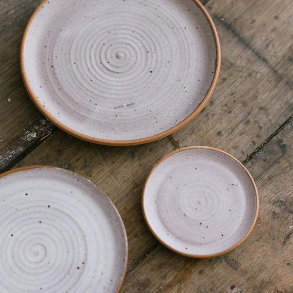 Extra Large Stoneware Planter + Saucer, Glacier