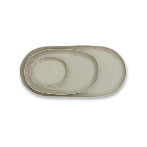 Cloud Oval Plate Dove Grey Large