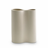 Marmoset Found Ribbed Infinity Vase Cream Medium