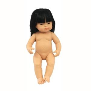 Miniland 38cm Anatomically Correct Doll Asian Girl In Poly Bag