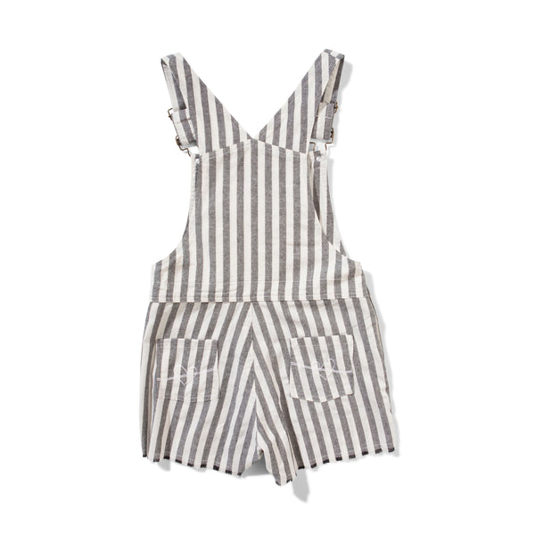 Project Denim Overalls Grey Stripe