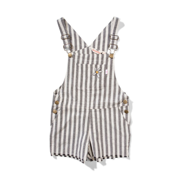 Missie Munster Project Denim Overalls Grey Stripe