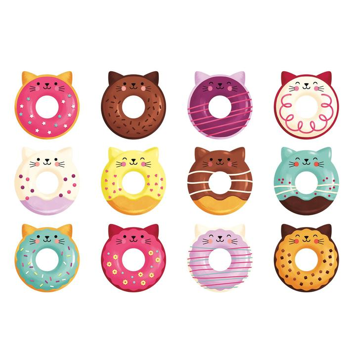 Memory Match Shaped - Cat Donut