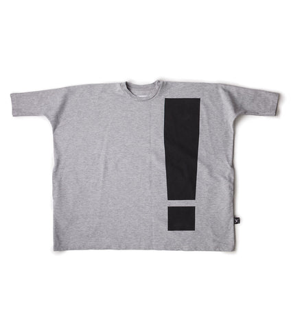 Exclamation Box Dress Heather Grey