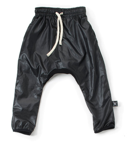 Nylon Baggy Pants Black