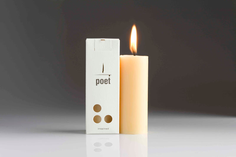 Northern Light Poet Beeswax Candle