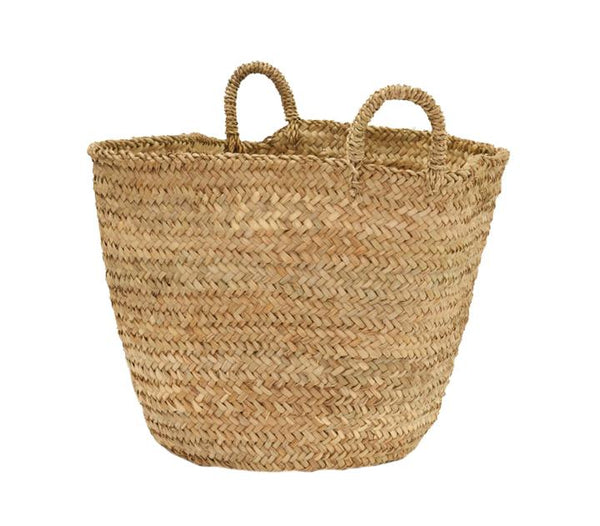 Olli Ella Palm Leaf Market Basket