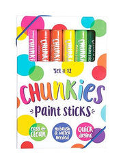 Ooly Chunkies Paint Sticks 12 Set