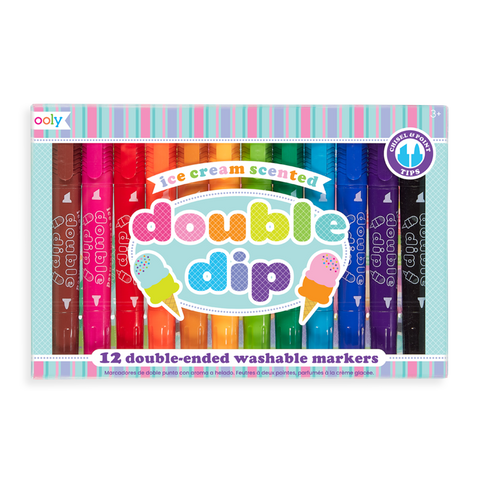 Double Dip Double Tip Ice Cream Scented Markers 12 Set