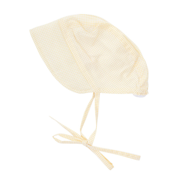 Peggy Daisy Bonnet Yellow Gingham
