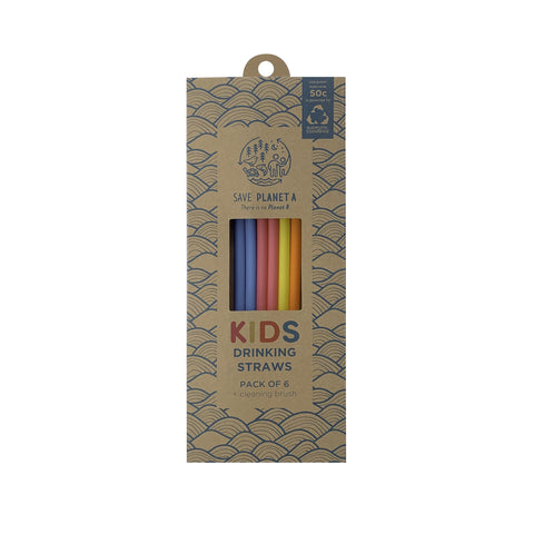 Kids Silicone Drink Straw 6pk